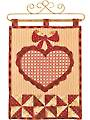 Vintage Blessings February Wall Hanging Pattern