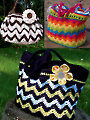 3 Chasing Chevron Bags Crochet Patterns