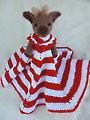 Reindeer Huggy Blanket Crochet Pattern