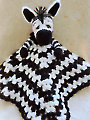 Zebra Huggy Blanket Crochet Pattern