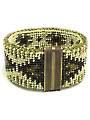 Brass Motifs Reversible Single Crochet Beaded Bracelet Kit