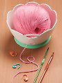 Yarn Valet Yarn Bowl Creme/Green