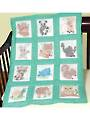 "Forest Friends 9"" Prestamped Nursery Quilt Blocks"