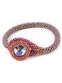 Danielle Ruby Bead Crochet Bracelet Kit