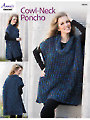 Cowl-Neck Poncho Crochet Pattern
