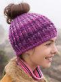 ANNIE'S SIGNATURE DESIGNS: Messy Bun Crochet Hat
