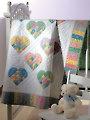 Scrap-Patch Hearts Quilt Pattern