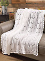Pineapple Panels Throw Crochet Pattern