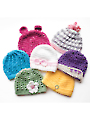 Newborn Girly Hats Crochet Pattern