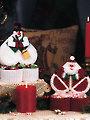 Santa & Snowman Surprise Boxes Plastic Canvas Pattern