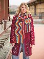 ANNIE'S SIGNATURE DESIGNS: Getaway Hoodie & Chevron Scarf Crochet Pattern