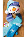 Snappy Hooded Snowman Scarf With Mittens Crochet Pattern