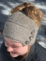 Ava Messy Bun Hat Knit Pattern