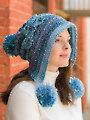 Lacy Pompom Snow Hat Crochet Pattern