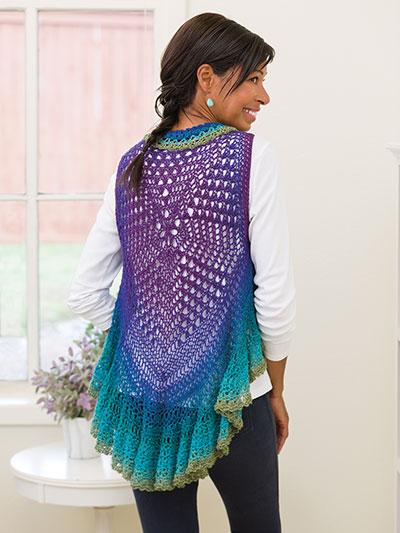 ANNIE'S SIGNATURE DESIGNS: Neptune Circular Vest Crochet Pattern