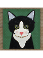 Tuxedo Cat Precut Fused Applique Kit