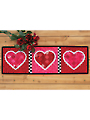 Patchwork Accent Table Runner Pattern - Hearts - February