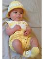 Baby Girl Romper Outfit Crochet Pattern