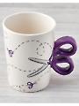 Purple Sewing Scissors Mug