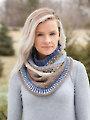 ANNIE'S SIGNATURE DESIGNS: Fair Isle Gansey Knit Cowl Pattern