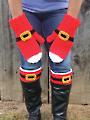 Santa Mittens & Boot Cuffs Crochet Pattern