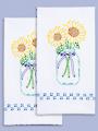Sunflower Prestamped Hand Towels - 2/pkg