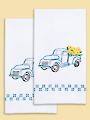 Blue Truck Prestamped Hand Towels - 2/pkg