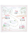 Campground Prestamped Wall Quilt Embroidery Pattern