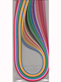 """Multi-Color 1/8"""" Quilling Paper 2 Pack"""