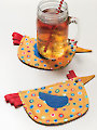 Chicken Coasters Sewing Pattern
