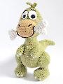 Albert the Dinosaur Amigurumi Crochet Pattern