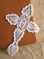 Initial Cross Bookmark Crochet Pattern