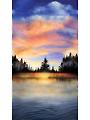 """Sunset Lake Panel 24"""" x 44"""""""