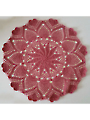 Pinwheel Pineapple Heart Doily