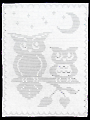 Moonlight Owls Filet Afghan Crochet Pattern
