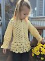 Girl's Sweater Jacket Crochet Pattern