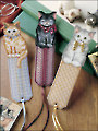 Pretty Kitty Bookmarks Plastic Canvas Pattern