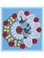 Hummingbird & Roses Pineapple Doily