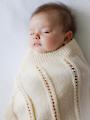 Peek-A-Boo Blanket Knit Pattern