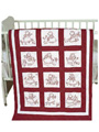 "Sunbonnet Girls 9"" Prestamped Quilt Blocks"