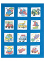 Transportation Prestamped Nursery Quilt Blocks