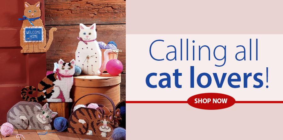 A963122 Feline Friends Plastic Canvas Pattern