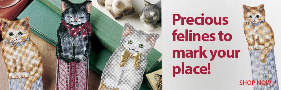 A885008 Pretty Kitty Bookmarks