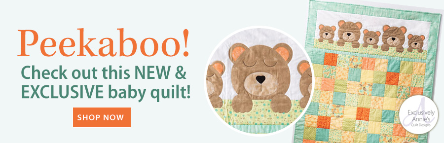 Peekaboo! Check out this NEW & EXCLUSIVE baby quilt!