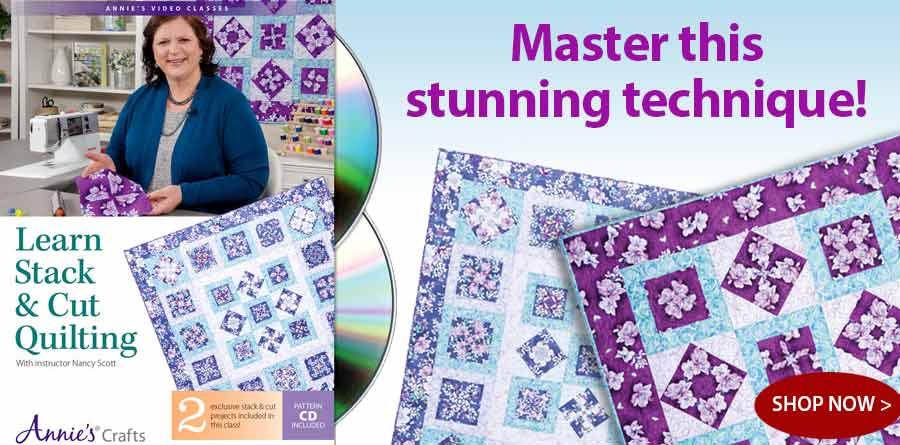 QDV16D Learn Stack & Cut Quilting DVD