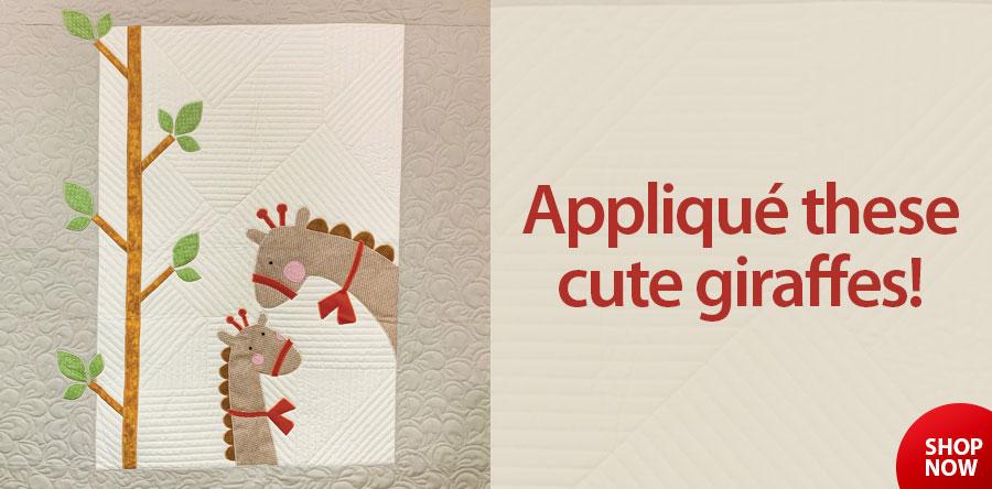 422526 Gigi Giraffe Baby Quilt Pattern