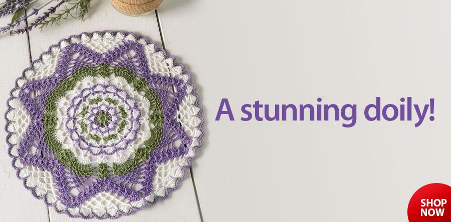 YC00617 Summer Floral Doily Crochet Pattern