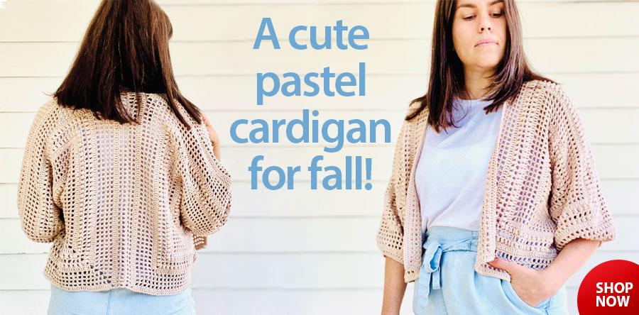 RAC2844 Cascade Cardigan Crochet Pattern