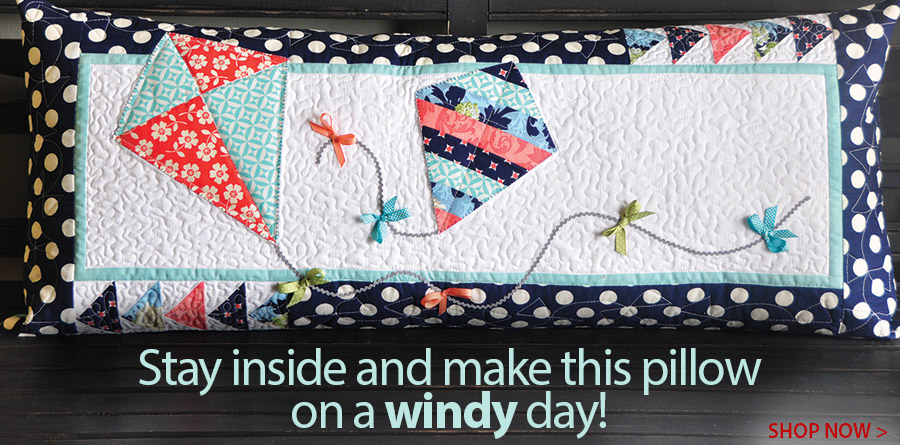 421778 Let's Go Fly a Kite Bench Pillow Pattern