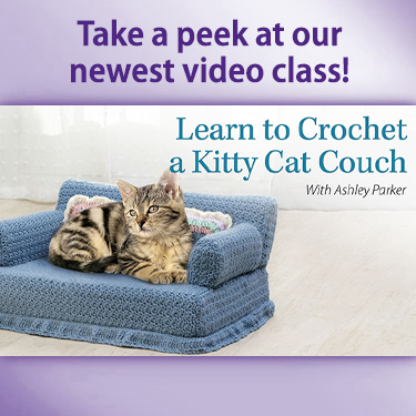 Learn to Crochet a Kitty Couch